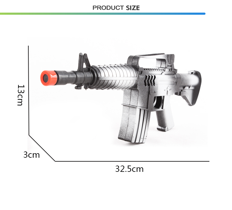 Promotional cheap kids simulation military plastic toy rifle with sounds