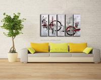 Gold Supplier Wholesale High Quality Modern Abstract Oil Painting On Canvas Modern Five Panels No Frame Wall Art Decor Picture