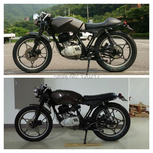 SAFFEN Brown Vintage Flat Brat Seat Cafe Racer Saddle CB200 CB350 CB400  CB500 CB750 SR400 SR500 XJ XS KZ Motorcycle Retro Seat