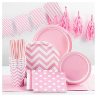 Biodegradable disposable party supplies for baby birthday from Yiwu