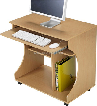 Stand Up Office Desk Colorful Wooden Classic Design