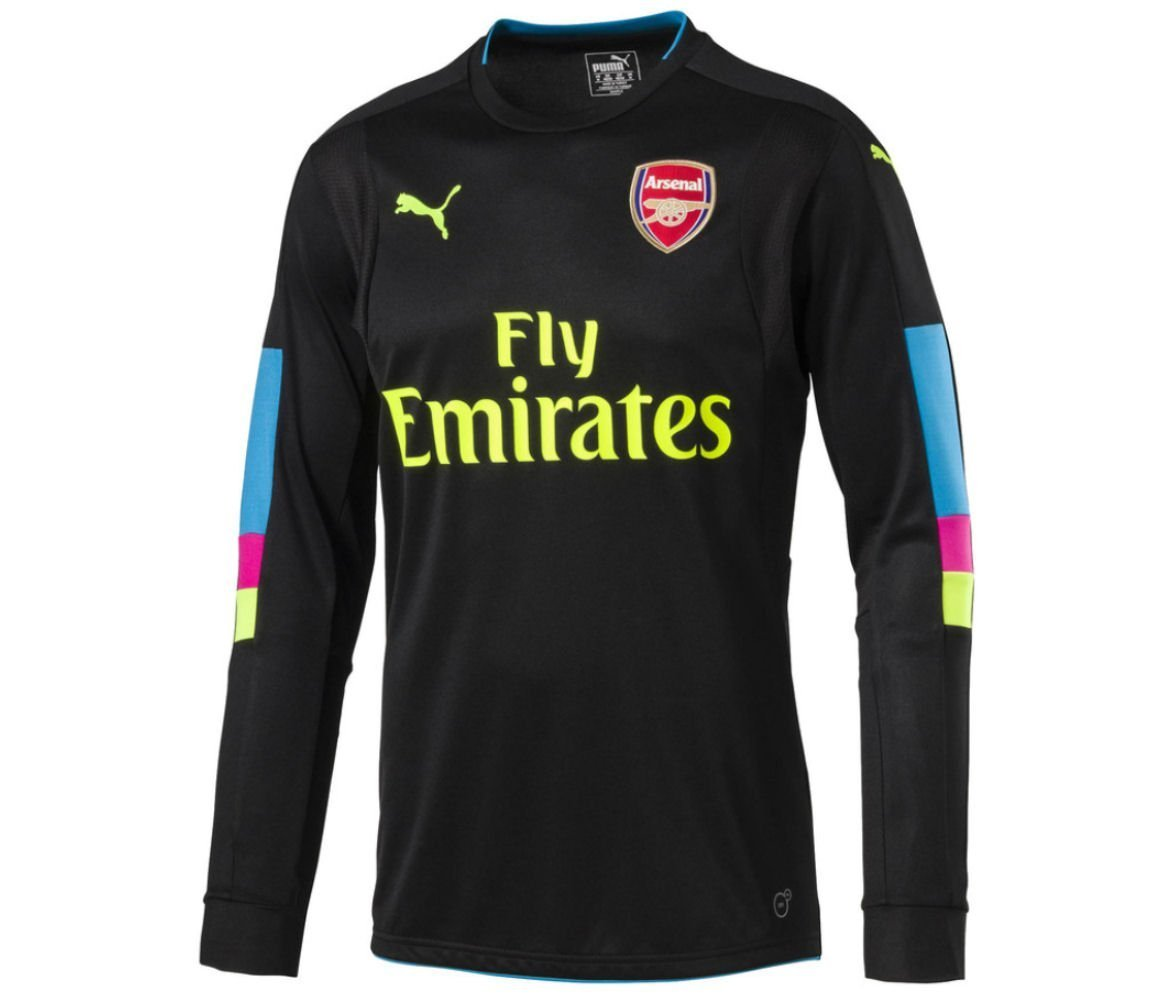 watch 28dca 4a9d5 Puma Arsenal FC 2016/17 L/S Home Goalkeeper Jersey - Youth - Black -