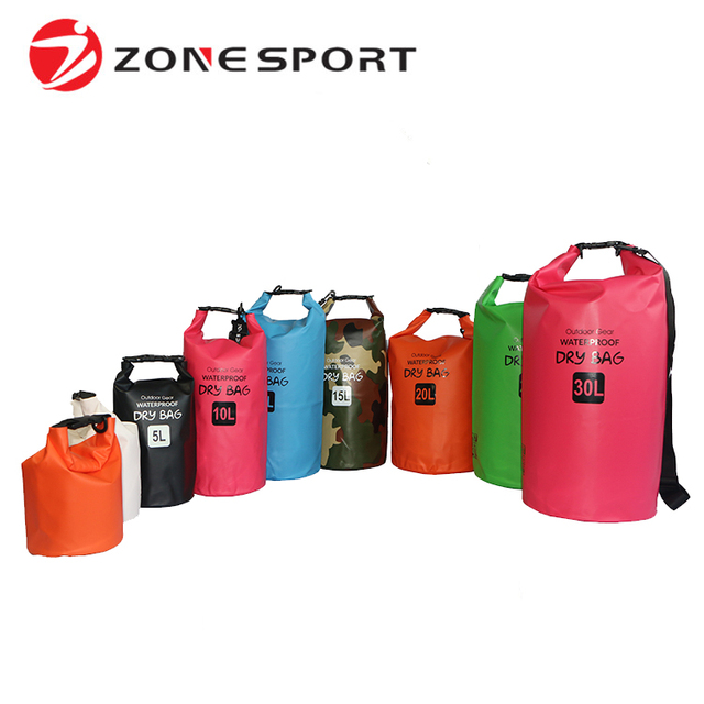2L 5L 10L 15L 20L 25L 30L High Quality Custom Logo Water Repellent Dry Bag Wholesale Waterproof Bag