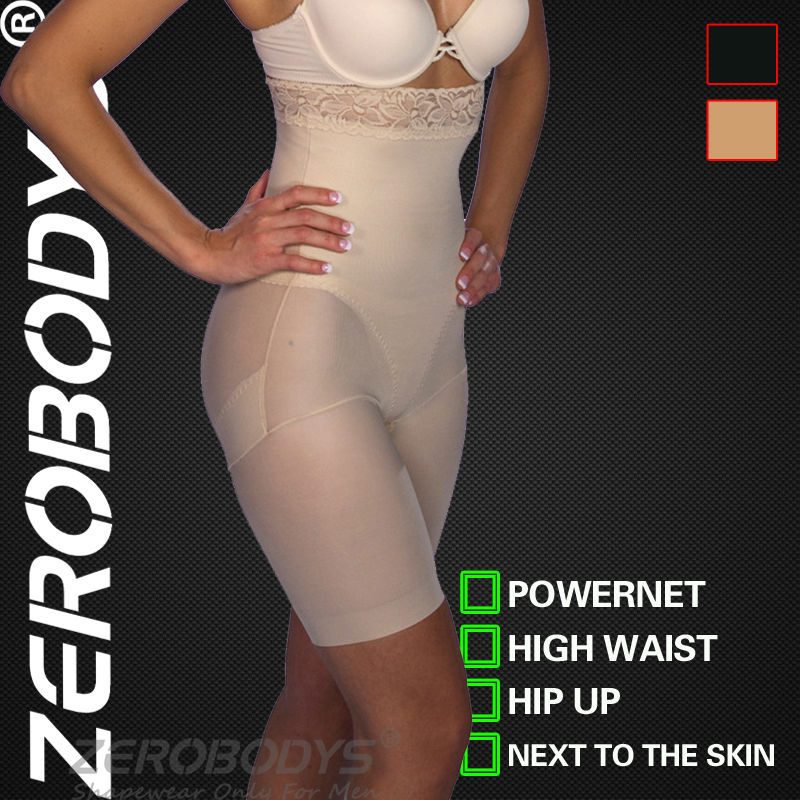 ZEROBODYS Powerful Womens Body Shaper 150g Powernet Lace High Waist Hip Up Underpants 067 BE Butt Lift Plus Size Shapewear