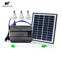 Factory cheapest price supply the Solar Home Light Kit with 3 Bulbs for no-electriciry areas home