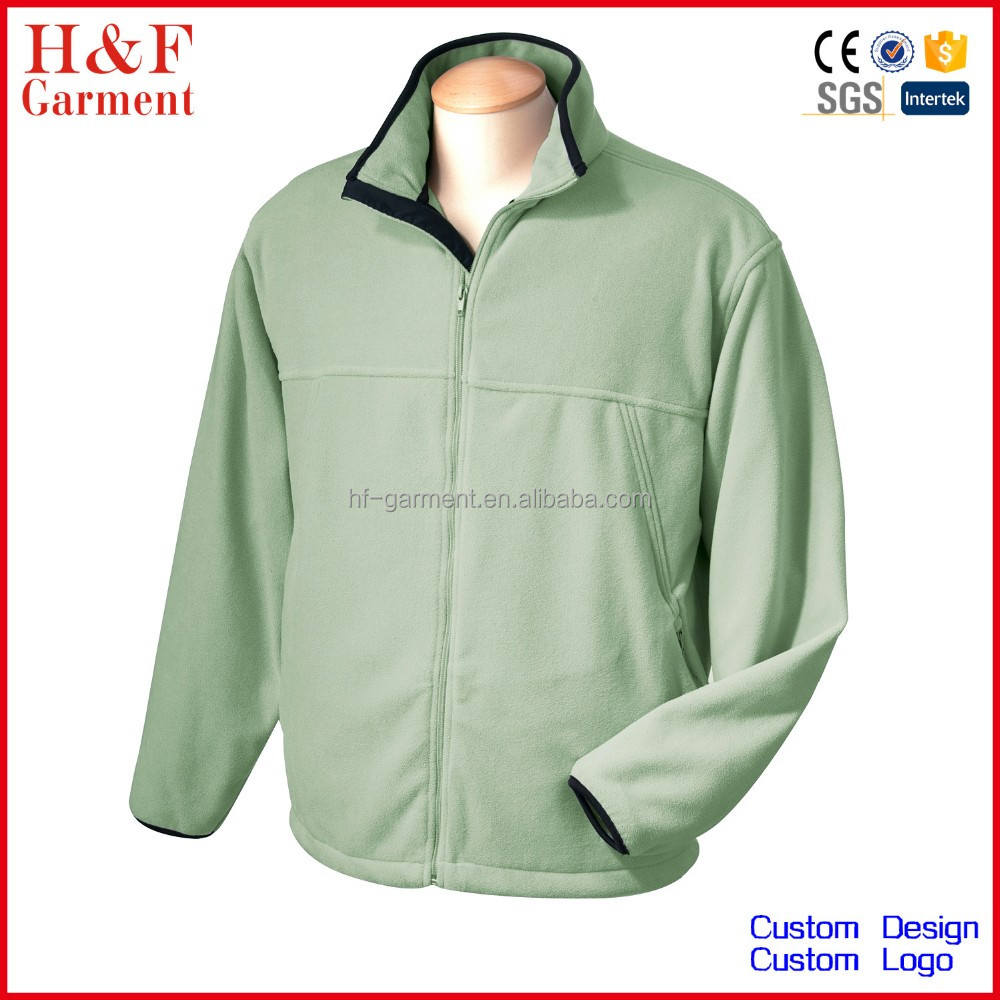 Outdoor sports fleece jacket cold weather outwear custom embroidery logo