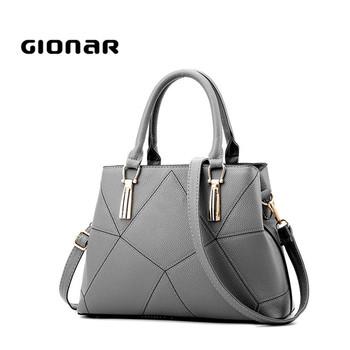 Gionar Factory Women Leather Handbags 2017 New Models Dubai Hand Bag