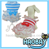 Beautiful Strips With Bowknot Ceremonial Dress Wholesale Dog Clothes
