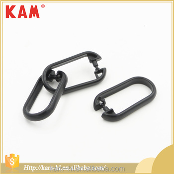Black Durable Plastic Oval Shower Curtain Eyelet Hooks And Rings ...