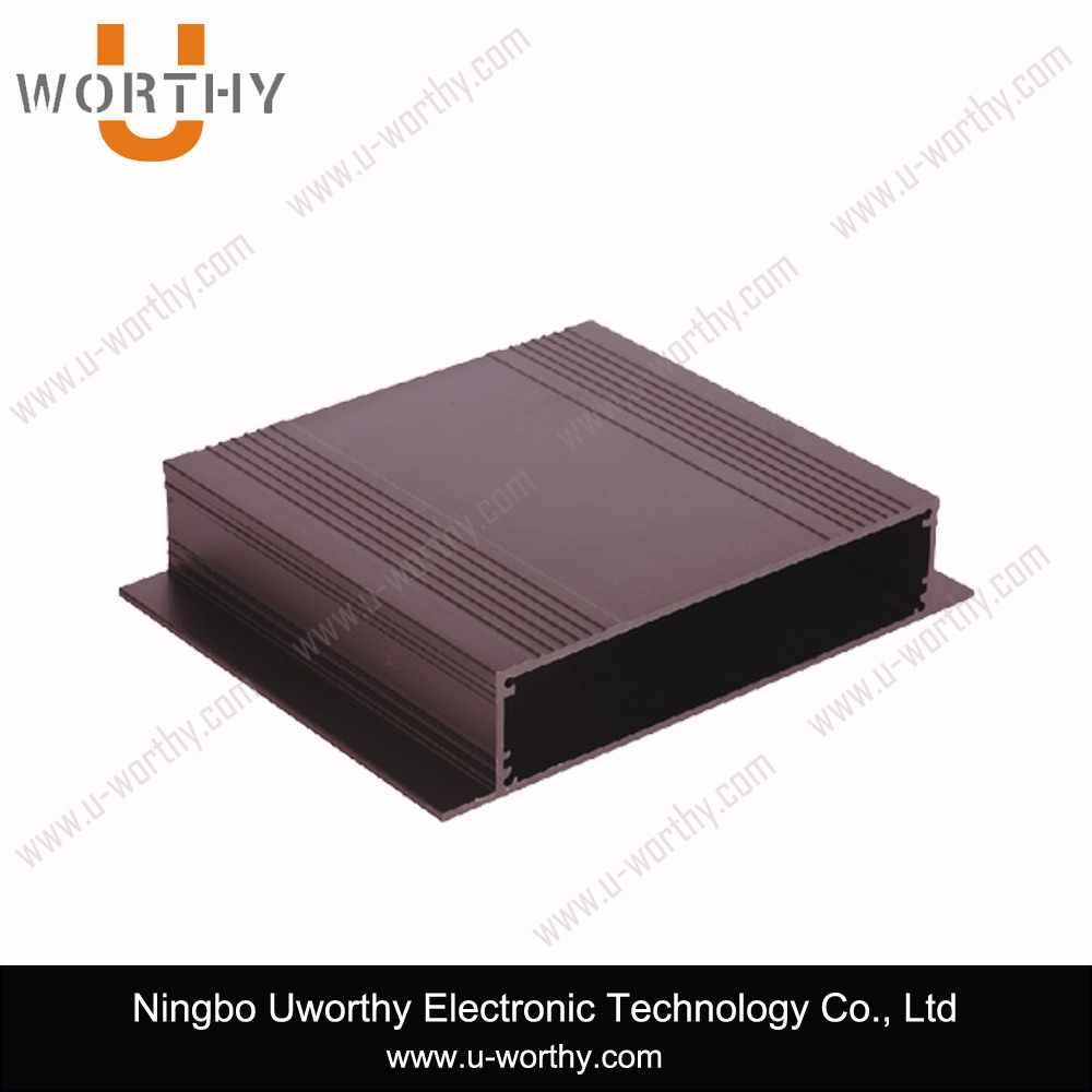 Electron Switch Box Type Aluminum Extrusion Housing with Internal Groove for Electronic PCB Sensor Enclosure