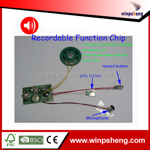 Greeting Card Recording Device/Voice Recording Chips For Toys And Greeting Cards