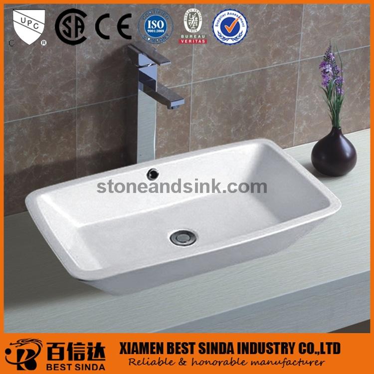 Wit porselein console wastafel voor het wassen van de handen badkamer wastafels product id - Wastafel console ...