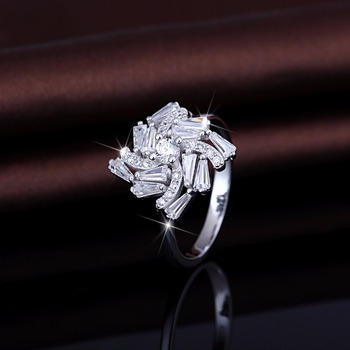 Reasonable Price 925 Pure Silver Couple White Gold Ring Price In
