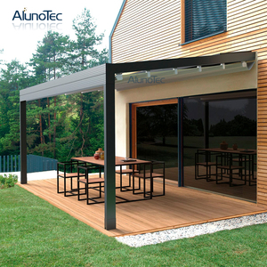 Motorized Retractable Patio Gazebo Folding Roof Awning for Restaurant