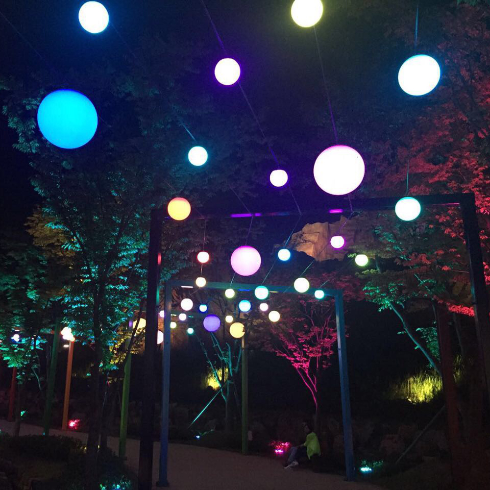 Plastic Ball Led Outdoor Hanging