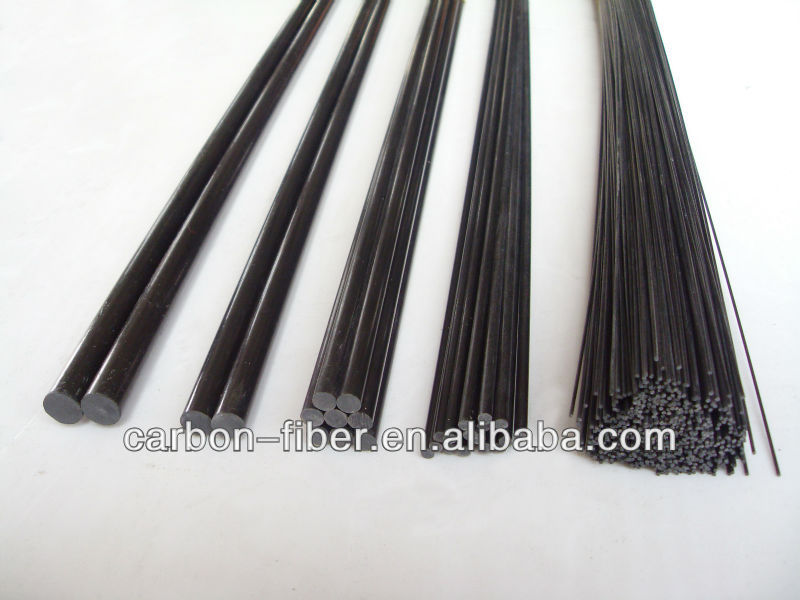CFRP product carbon fiber pole rod,flat,strip - 2mm x 1000mm made in China
