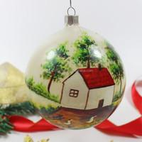 promotion christmas glass tree ball ornaments christmas craft