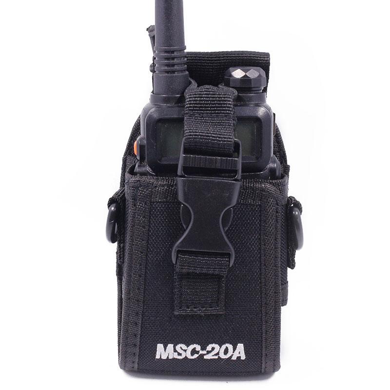Walkie talkie Bag Holster MSC-20A Nylon portable Case For Kenwood  handy radio BaoFeng UV-5R UV-6R GT-3 BF-888S UV-82 DM-5R plus
