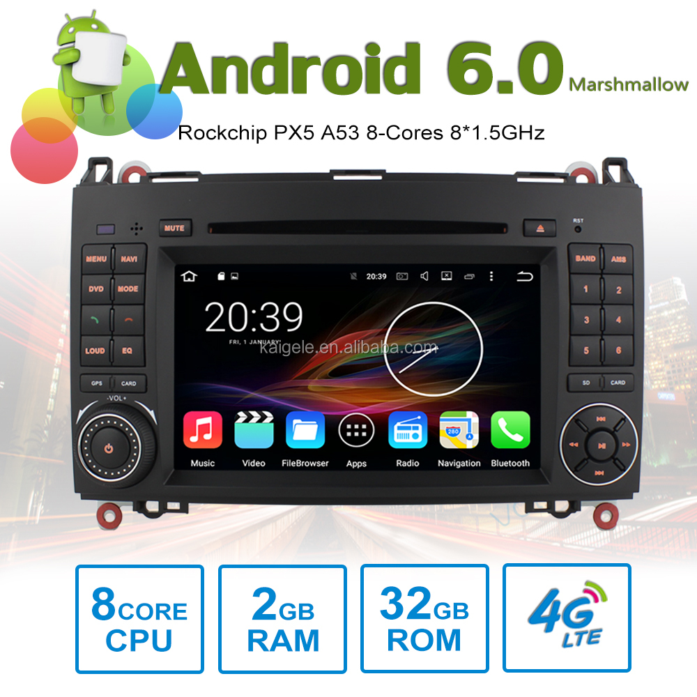 android gps player for mercedes benz w169 w245 sprinter viano vito Android 6.0 with 2GB RAM 32GB ROM Octa-Cores Rockchip PX5
