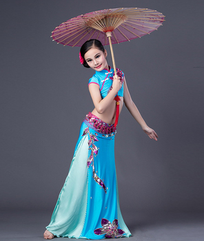 cdf57535853d Rt229 Wuchieal Chinese Style Kids Belly Dance Costumes - Buy Kids ...
