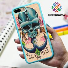Phone cover cute skull plastic case for iphone