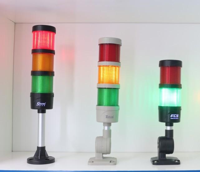 machine status indicator lights