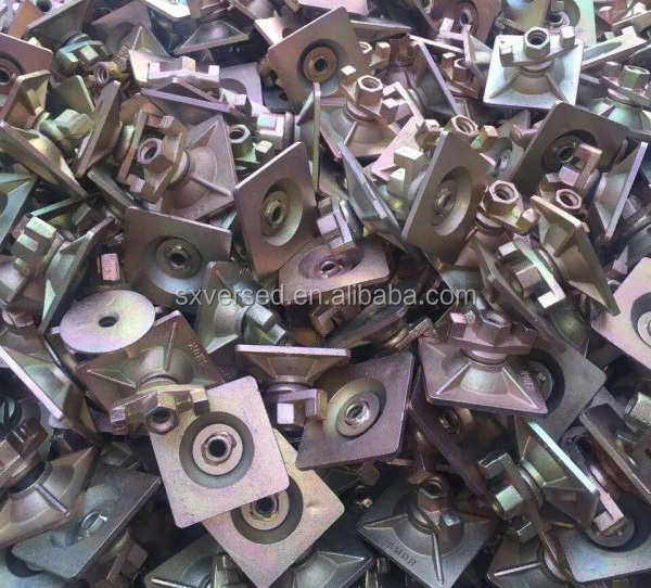 formwork material wing nut anchor wing nut with plate for formwork tie rod