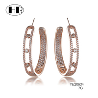 2017 America&Europe Latest Designs 925 Sterling Silver Sexy Goddess HoopJewelry Diamond Earrings For Women Girls