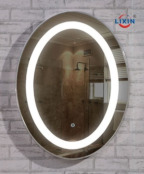 Oval Bathroom Fogless Backlit Mirror With LED Light In Hotel Items