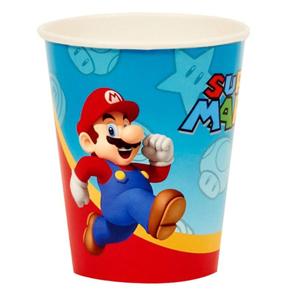 Super Mario Brothers 9oz Paper Cups (8ct)