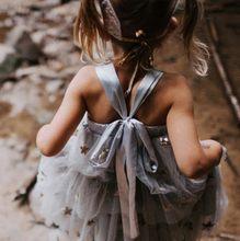 Нарядные платья для девочек с рисунком звезды; платья принцессы для девочек; детская одежда; праздничные платья с единорогом(Китай)