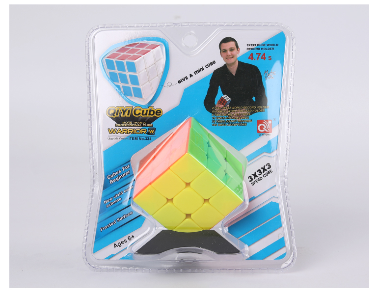Qiyi Warrior W small puzzle square 56mm 3-layer cube toy with stickerless