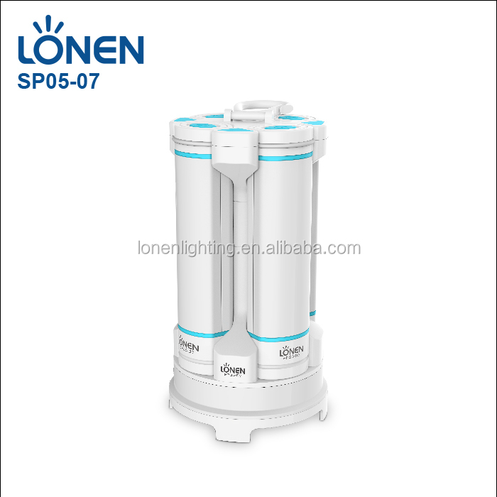 LONEN rechargeable camping lantern lamp with 4pcs 1W LED + 2W COB flashlights