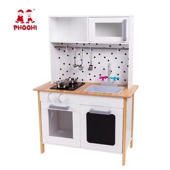 Pretend play children white cooking set wooden kids kitchen toy with  accessories, View kitchen toy with accessories, Phoohi Product Details from  ...