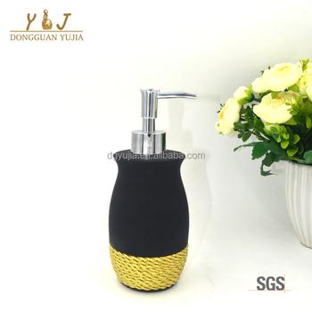 Black Ceramic Texture Bath Accessory Hand Lotion Pump Soap Dispenser