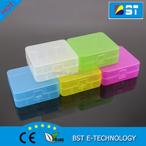 Portable Plastic 18650 battery case/ battery holder storage case Carry box for 4x18650 /2x26650 li-ion battery