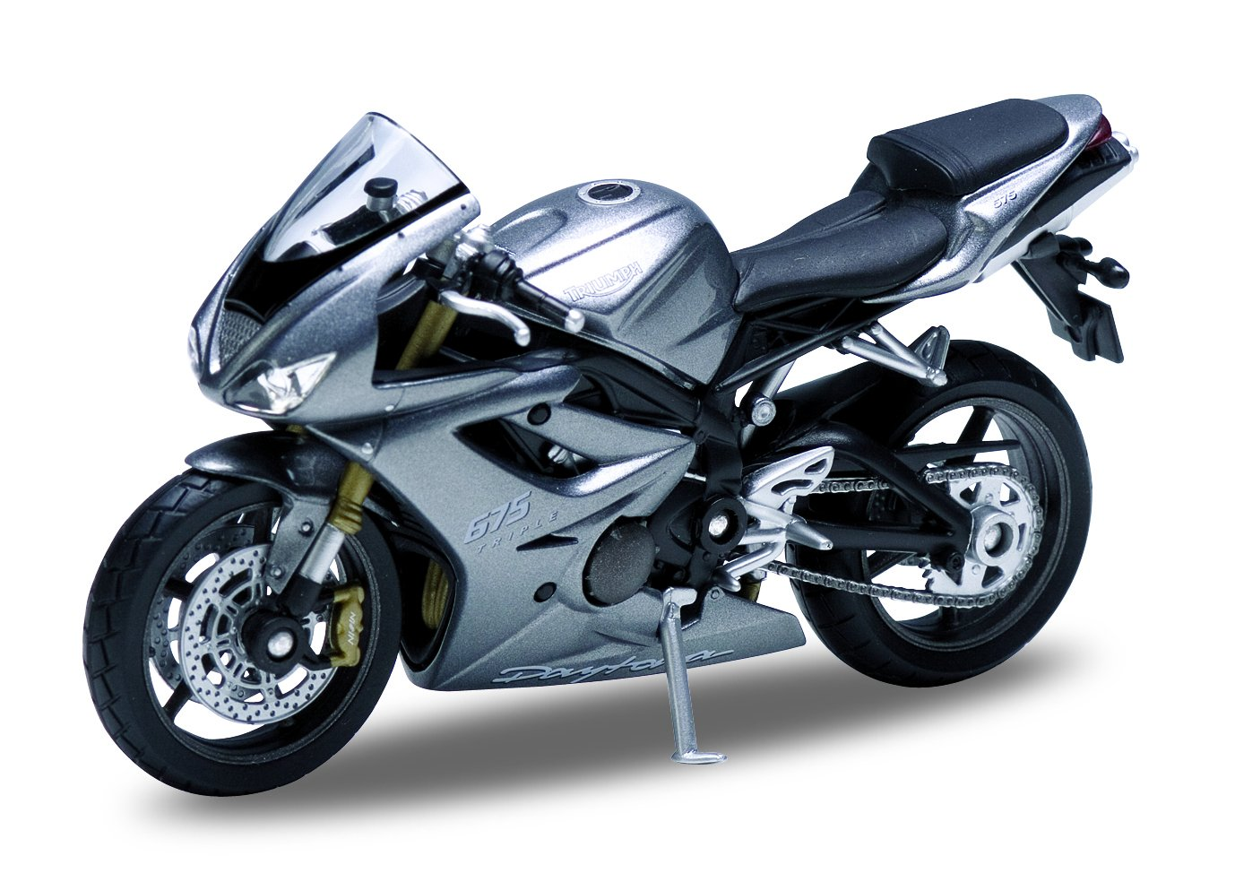 Get Quotations · Welly Die Cast Motorcycle Silver Triumph Daytona 675, 1:18  Scale