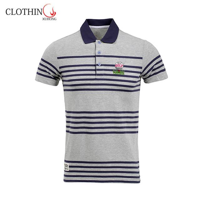 sport cool dry custom striped polo shirt provide OEM service for men