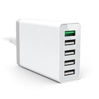 XBX 5 Port Family Charger Multi-port Desktop USB Charger quick charge 2.0 usb charger docking station for mobile phone tablet