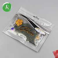factory custom printed front clear foil back fishing hook baits packaging bag