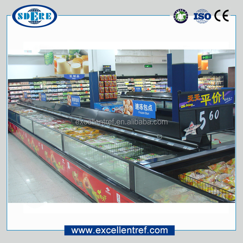 DID2515O1 Horizontal Freezer Used as Meat and Seafood Display Case In Supermarket