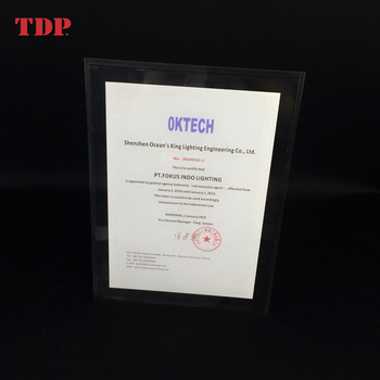 Wholesale High Quality Fashion Design Acrylic Magnetic Photo Frame Clear Acrylic Certificate Holder