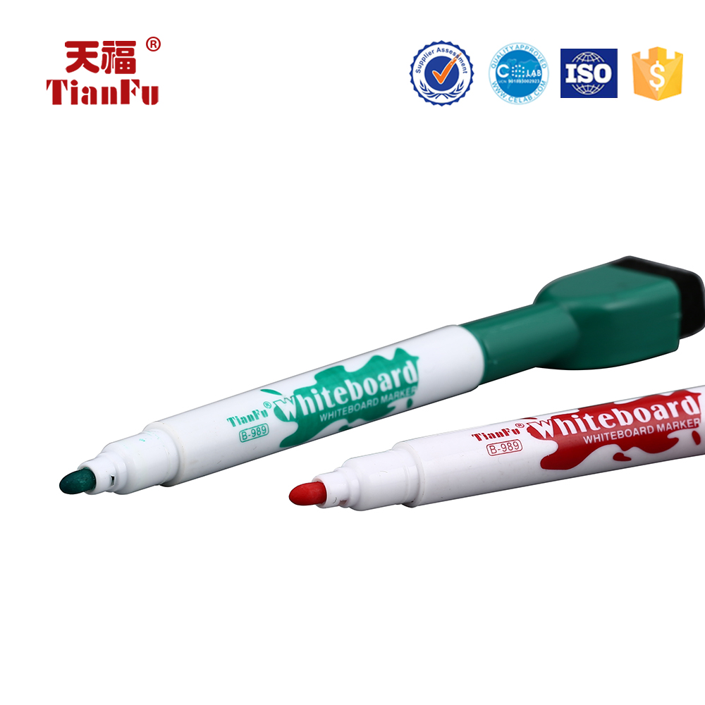 Quick dry unique refillable ink B-989 whiteboard marker for school