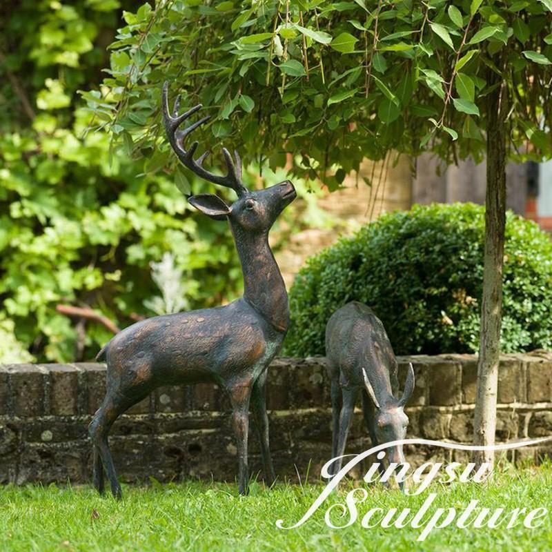 Garden Decor Deer: Garden Decor Bronze Deer Statue