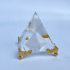 Hot Religious Gift Egypt K9 Crystal Pyramid Paperweight for souvenir gifts