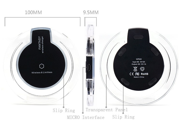 2016 Hot Sale Fantasy Crystal Wireless Charging Pad With Led Light ...