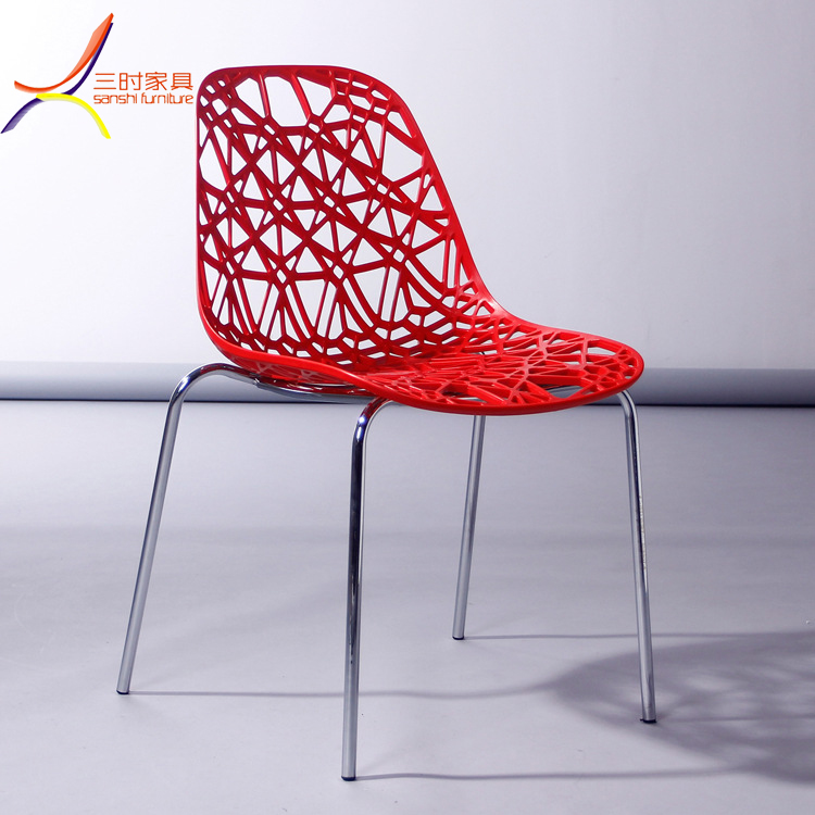Cheap leisure branch Tree vegetable plastic chair pp hole dining chair