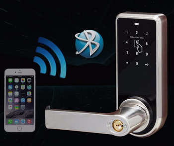 Bluetooth Smart Door Lock With NFC Key Password Ready App Software And Free SDK For Both Android And IOS Connected With Gateways