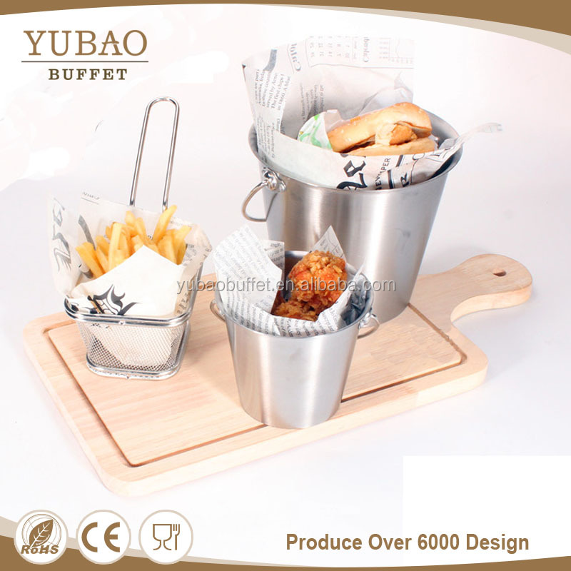 Restaurant stainless steel folding paper chicken wing nuggets box, french fries box