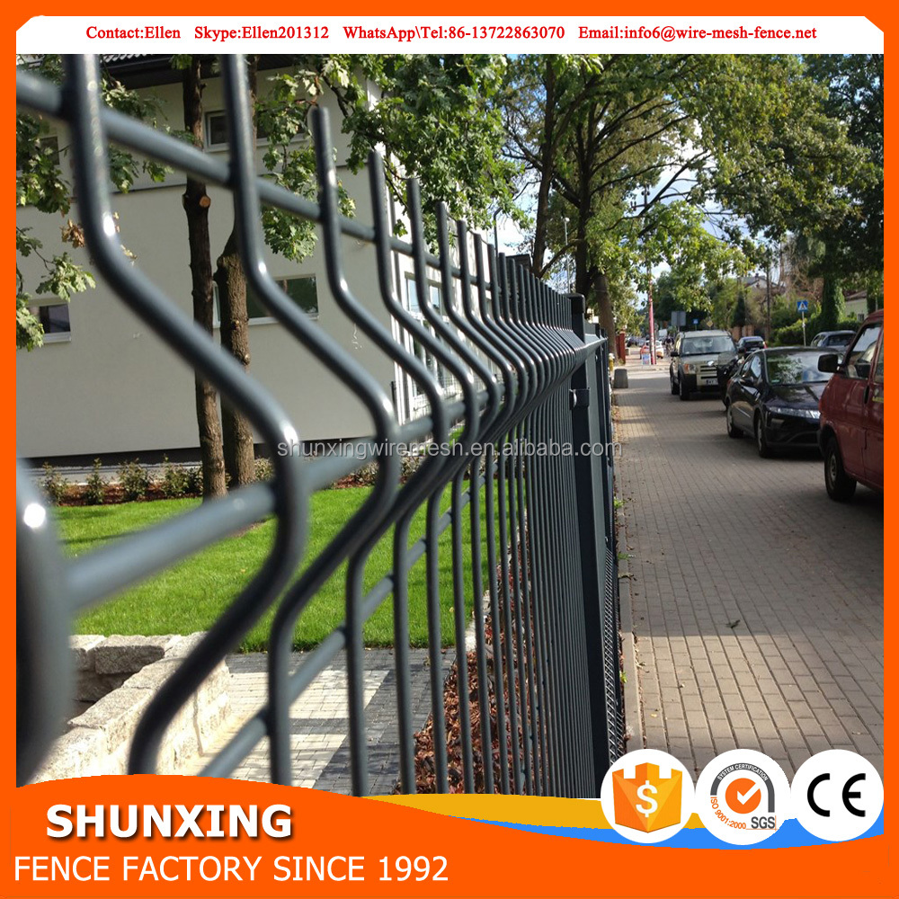 High Quality 3D Fence Mesh With Metal Fence Pole